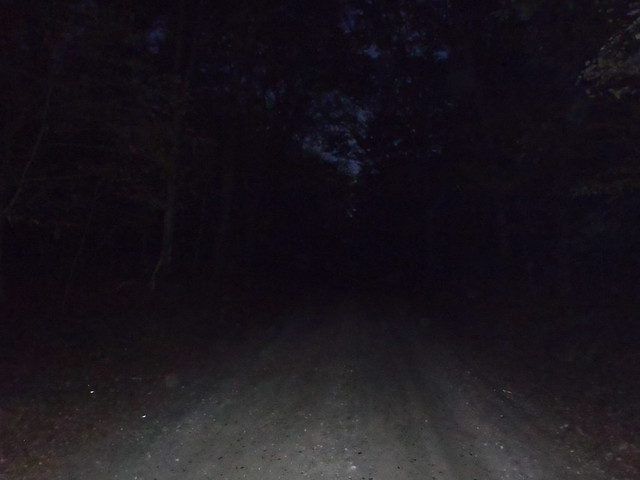 Kinda dark on Rams Tail Road near the Barden Reservoir