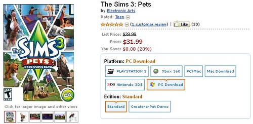 20% Discount on Pets (Digital) via Amazon
