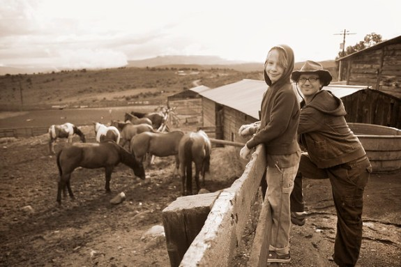 Black Mountain Colorado Dude Ranch sepia boys at fence