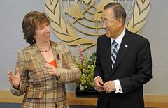 Catherine Ashton with Ban Ki-moon