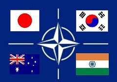 ASIAN NATO CONCEPT FLAG