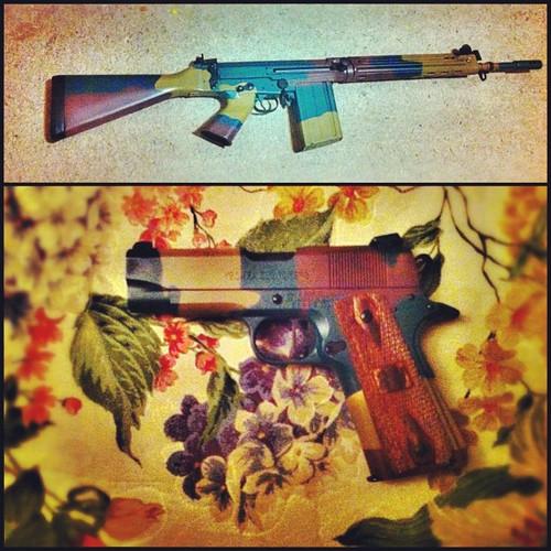 86. Dad's guns got a Belgian makeover.