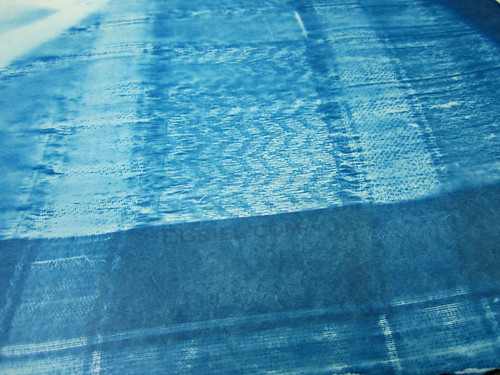 Cyanotype test: blue malay cloth