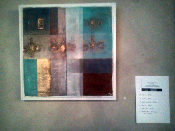 Sofia Norberg - utställning oljefärg på masonit - Farbror Nikos café och galleri i Stockholm