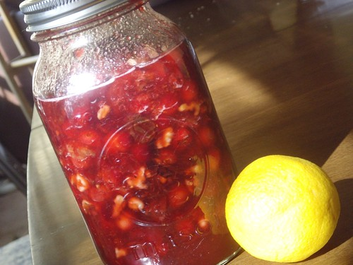 Cranberry, Cherry and Walnut Chutney
