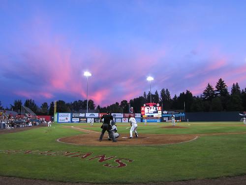 Sunset Over Nat Bailey Stadium