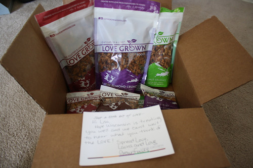 Love Grown granola box