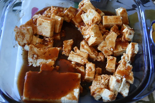 tofu with barbecue sauce
