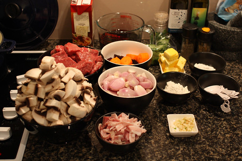 Beef Bourguignon- Cut and Prep