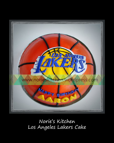 Norie's Kitchen - Los Angeles Lakers Cake by Norie's Kitchen