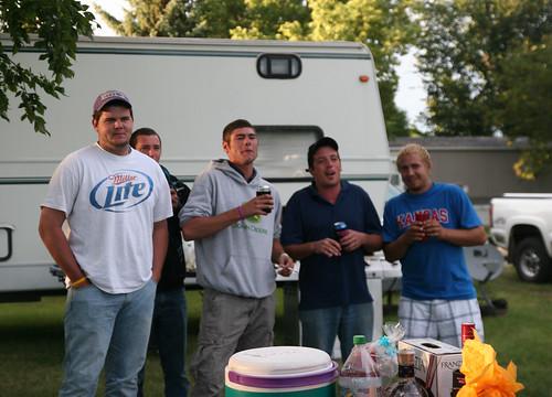 The crew of Kraft Harvesting sings Happy Birthday to Mike