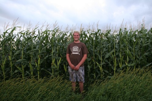 Standing at 6'3 Roly is shorter than the corn we will cut this fall.