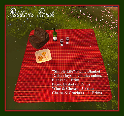 "Piddler's Perch: ""Simple Life"" Picnic Blanket"