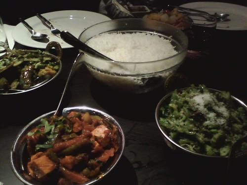 three vegan dishes