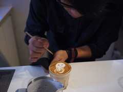 Latte art etching, Pause, Dominic Khoo's 28th Fevrier, 5 Jalan Kilang