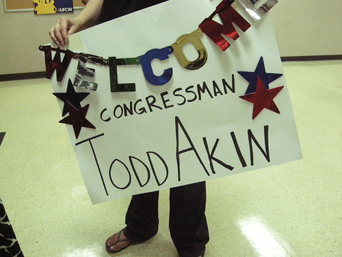 Todd Akin never responds to Democratic constituents