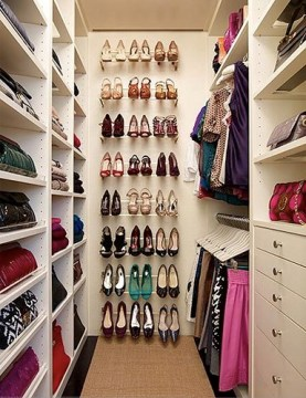 narrow closet shoe storage