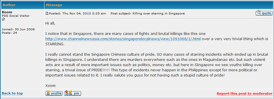 Ashamed to be Singaporean?