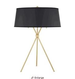 Quiozel tripod table lamp