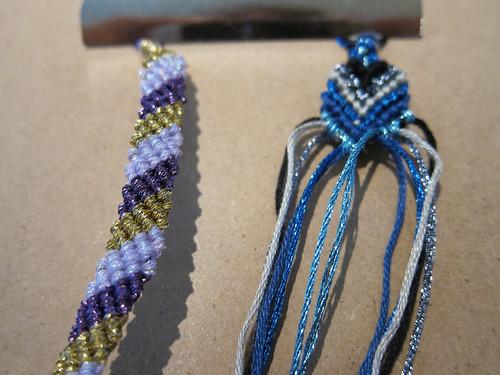 Metallic Friendship Bracelets