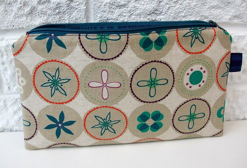 Bloom Zippered Pouch by Very Berry Handmade