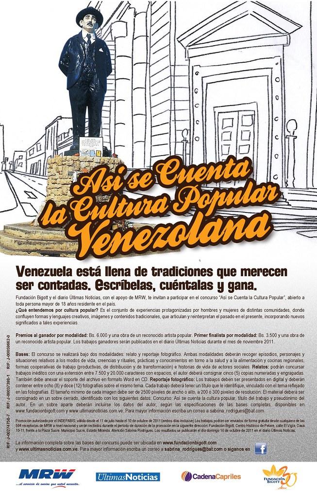 Concurso Así se cuenta la Cultura Popular Venezolana