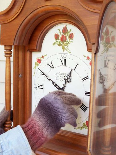 grandfather clock winding