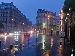 Paris in the pouring rain