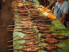 Grilled fish, Night Market, Luang Prabang
