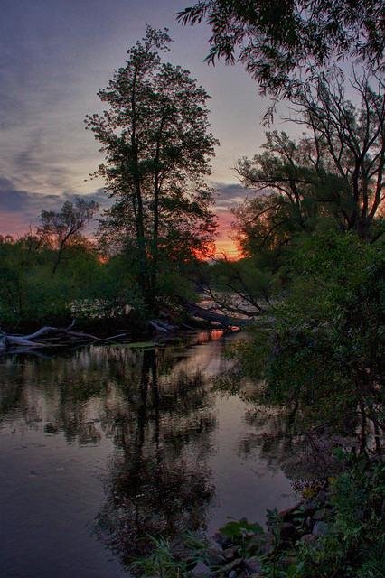 Sunrise over the Mississippi