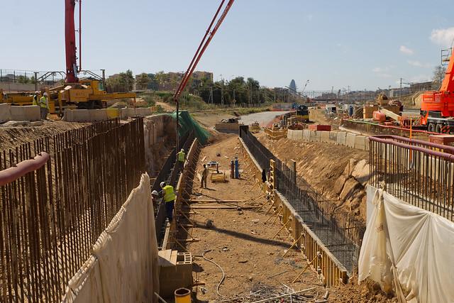 Hormigonando en frontera UTEs Sant Andreu - 15-09-11