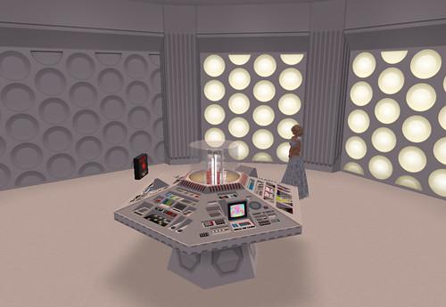 Inside a TARDIS control room