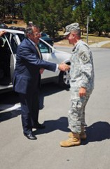 Secretary of Defense Leon Panetta visits POM