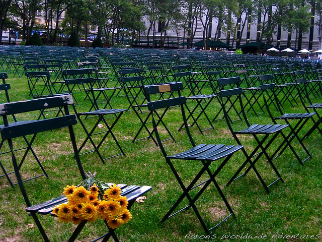 9/11 Memorial in Bryant Park
