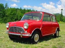 red vintage mini cooper
