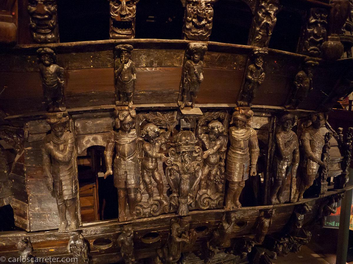 Originales de la ornamentación del Vasa