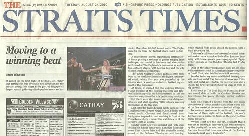 Tear sheet #1: The Straits Times