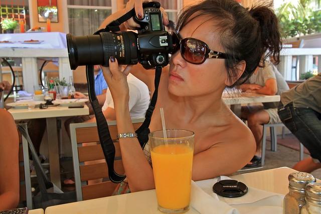 Photographe en action, Miami, États-Unis