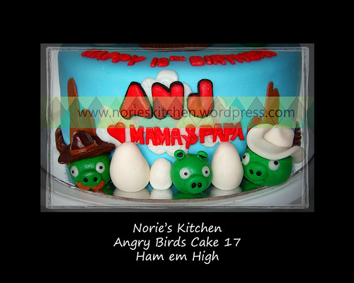 Norie's Kitchen - Angry Birds Cake - Ham em High