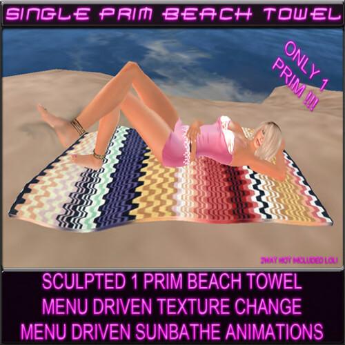 Single Prim Beach Towel