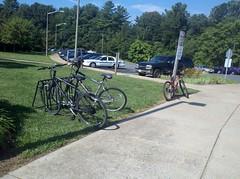Western Albemarle's bike rack