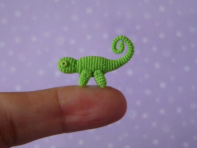Crochet miniature Chameleon