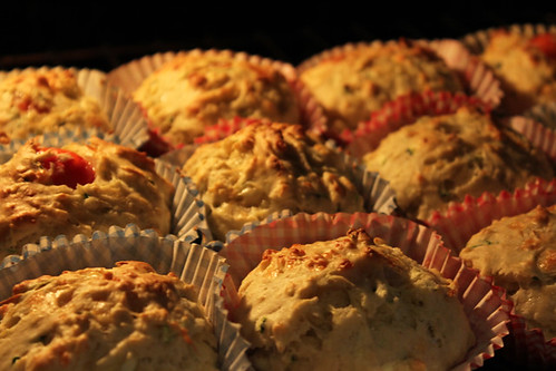 Courgette, Cheese and Tomato Muffins (4/5)