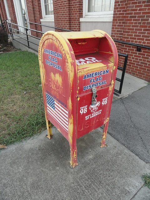Flag Disposal at Sweetwater TN Post Office