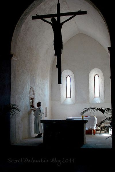 The interior of the church