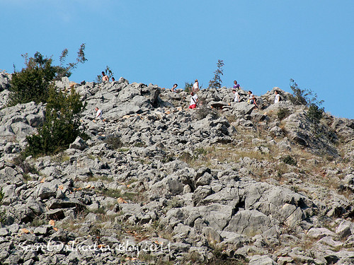 Other members of the group descending slowly