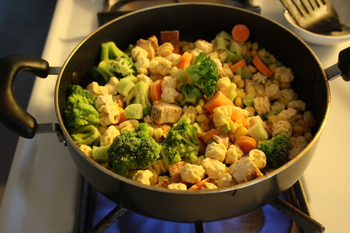 cooking Birds Eye meal