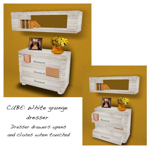 Cube: White Grunge Dresser