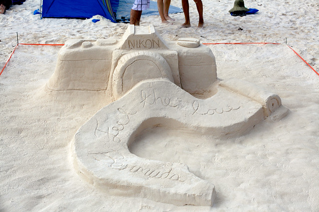 Bermuda Sandcastle competition at Horseshoe Bay