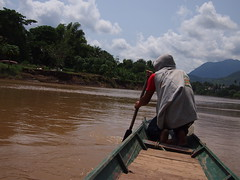 Boat over Nam Khan River, Luang Prabang